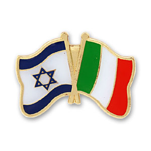 Italy-Israel Flags Lapel Pin.