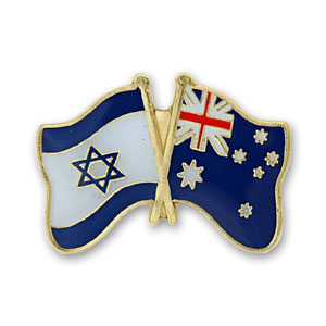 Australia-Israel Flags Lapel Pin.
