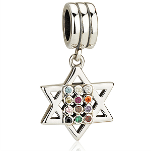 Hanging Hoshen Bracelet Charm in Sterling Silver. 30% OFF*