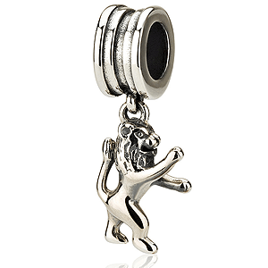 Lion of Judah Hanging Bracelet Charm, Sterling Silver. 30% OFF*