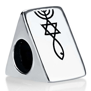 Messianic Triangle Bead Bracelet Charm. 30% OFF*