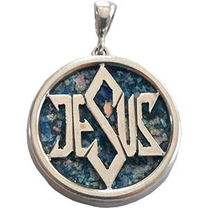 Ancient Roman Glass Jesus Star of David Pendant