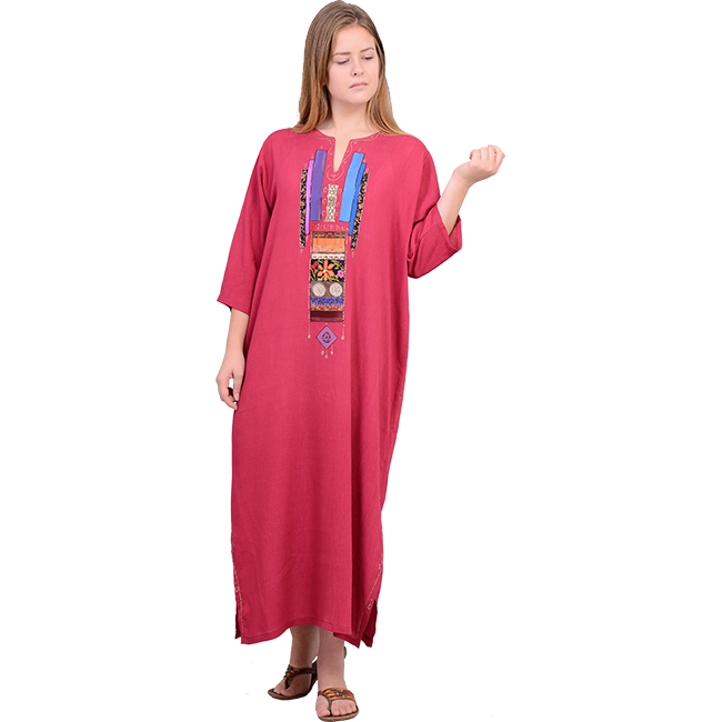 made rayon crepe jalabiya dress