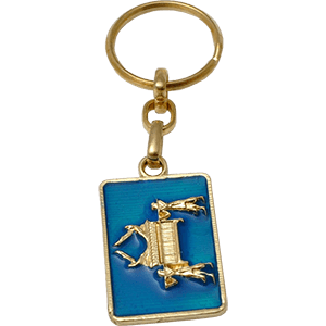 Metal Ark of the Covenant Keychain