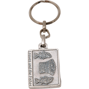 Loaves and Fishes Mosaic Keychain