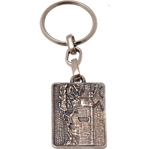 The Empty Tomb Pewter Keychain