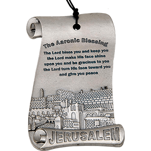 Aaronic Blessing Pewter Wall Plaque
