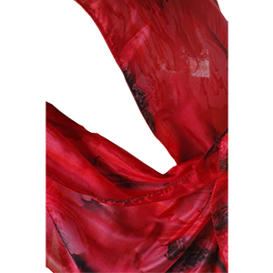 Red Galilee Silk Scarf