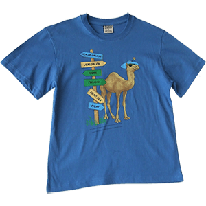 Camel at a Sign Post Kids T-Shirt