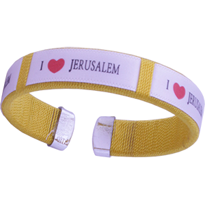 Yellow I ❤ Jerusalem Wristband Bracelet
