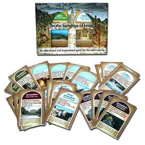 """In the Footsteps of Jesus"" Family Card Game"