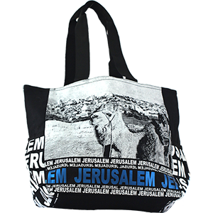 Blue Foil Jerusalem Camel Tote Bag
