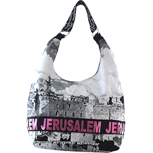 Kotel Hobo Bag with Jerusalem Pink Foil