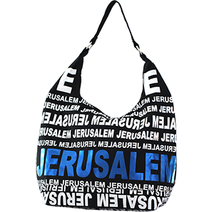 City Hobo Bag with Jerusalem Blue Foil