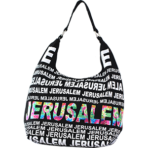 City Hobo Bag with Jerusalem Rainbow Foil