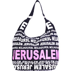 City Hobo Bag with Jerusalem White/Pink Matte