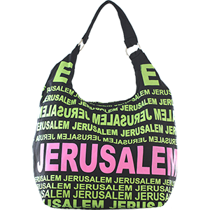 City Hobo Bag with Jerusalem Green/Pink Matte