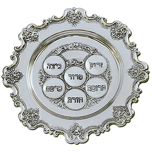 Passover Seder Plate. Silver Plated.