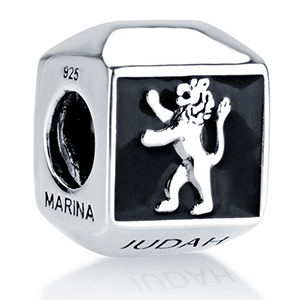 Lion of Judah Onyx Bead Charm, Sterling Silver. 30% OFF*