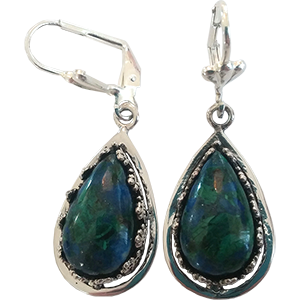 Teardrop Eilat Stone Earrings in Sterling Silver