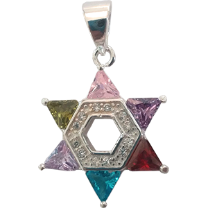 Crystal Encrusted Silver Star of David