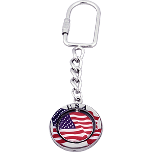 Israel and USA Keychain
