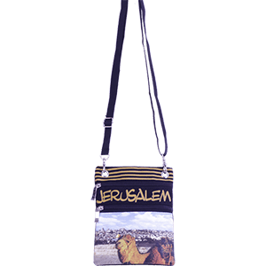 Yellow Jerusalem Camel Passport Bag