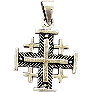 Silver Jerusalem Cross.