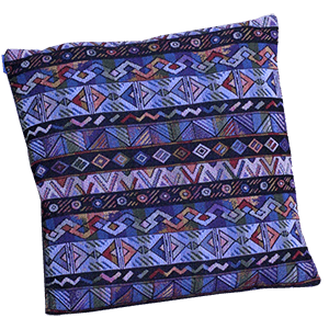 Armenian Blue Woven Cushion Case.