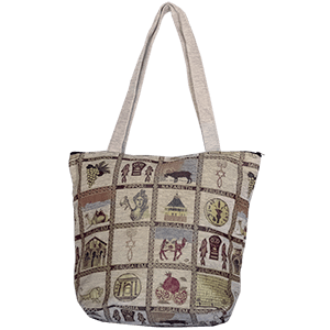 Tote Bag With Holy Sites & Symbols.