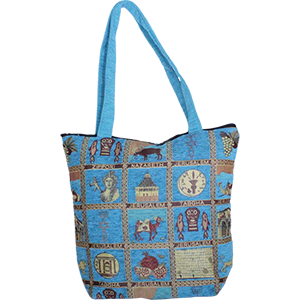 Holy Sites Turquoise Tote Bag