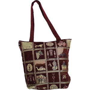 Burgundy Holy Land Tote Bag