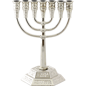 Silver Plated Small Jerusalem Menorah