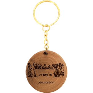 The Last Supper Olive Wood Keychain