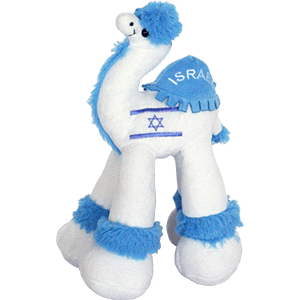 Israel Flag Plush Camel