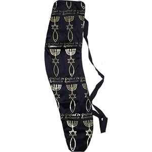 Grafted In Black and Gold Velvet Shofar Bag
