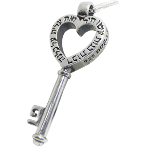 Nobel Woman Proverbs 31:29 Key Silver Necklace
