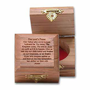 The Lord's Prayer Small Olive Wood Box
