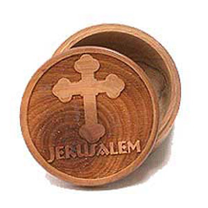 The Christian Cross Round Olive Wood Boxes