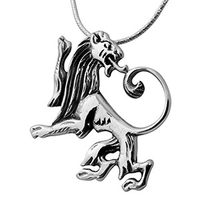 Rafael Jewelry Sterling Silver Roaring Lion Necklace