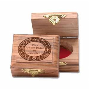 Pray for the Peace of Jerusalem decorative Olive Wood Box