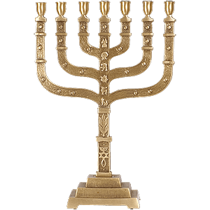 Grafted In Brass Menorah