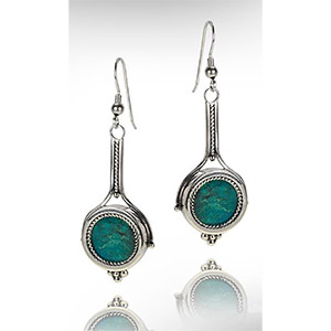 Rafael Jewelry Silver 'Racket' Eilat Stone Earrings