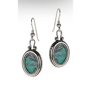 Rafael Jewelry Silver Classic Oval Eilat Stone Earrings