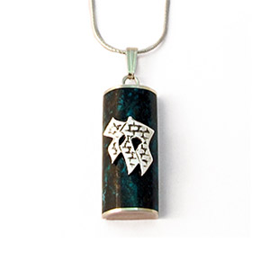 Rafael Jewelry Eilat Stone Amulet with Chai Necklace