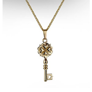 Rafael Jewelry 14kt Gold Key to your Heart Pendant