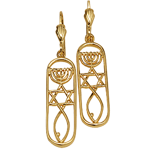 Gold filled Grafted In Earrings within Rounded Rectangle