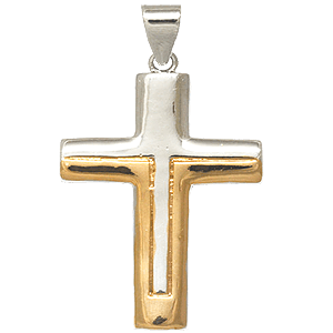 Unified Two-tone Gold-filled Cross Pendant