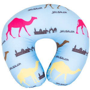 Blue Jerusalem Travel Neck Pillow