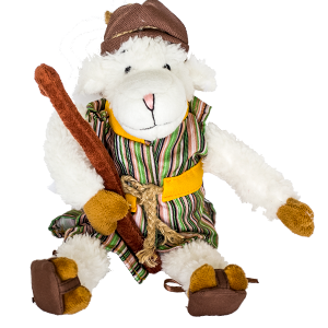 Charming Shepherd Sheep Plush Toy
